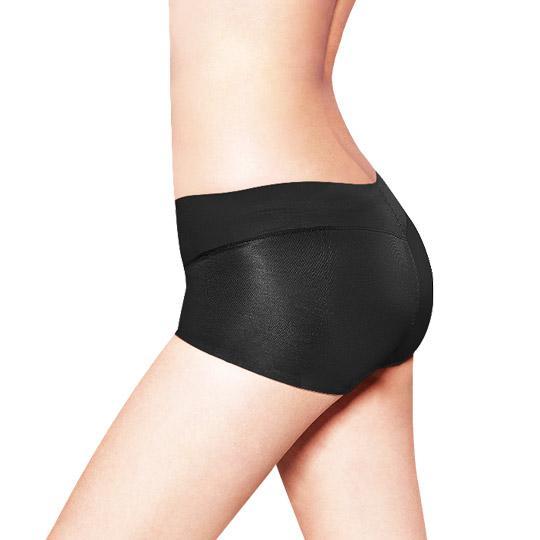 日本3D魔翹-完美無痕提臀低腰平口內褲(黑)