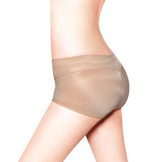 日本3D魔翹-完美無痕提臀低腰平口內褲(豆沙藕)