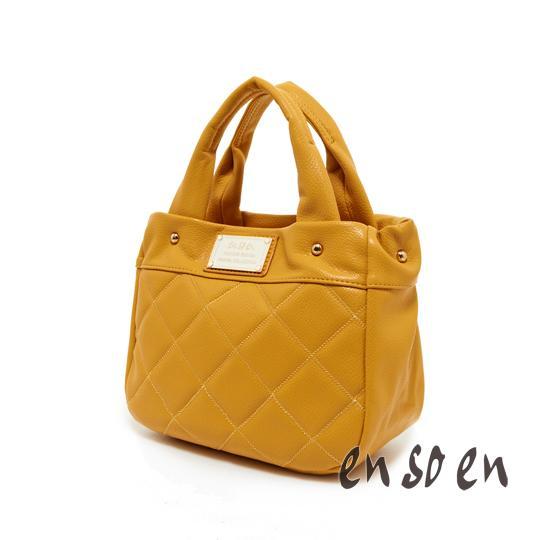 en so en 韓系輕巧甜美手提包-黃色