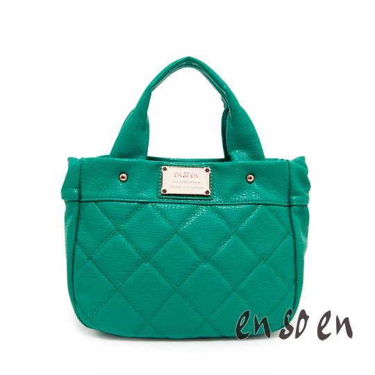 en so en 韓系輕巧甜美手提包-綠色
