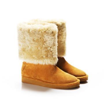 【SugarMelon x 瑞莎】俏皮甜美款 捷克鑲鑽真麂皮短靴(奶茶棕)