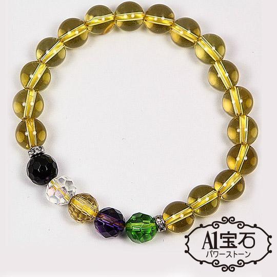 【A1寶石】晶鑽五行強力招財-黃水晶手鍊(含開光加持)