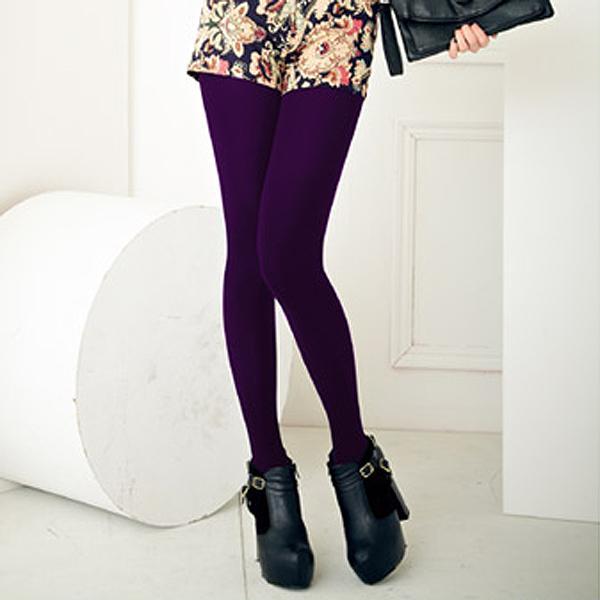 【MEINAS美娜斯】200D天鵝絨褲襪-暗紫
