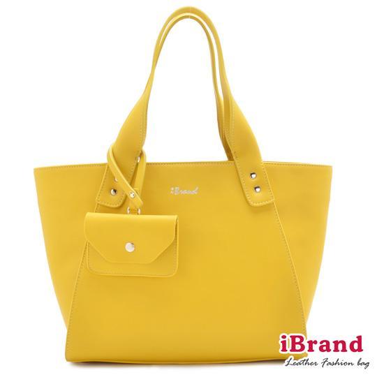 【i Brand 真皮包包】漾彩時尚-真皮玩心妙麗包-亮麗黃