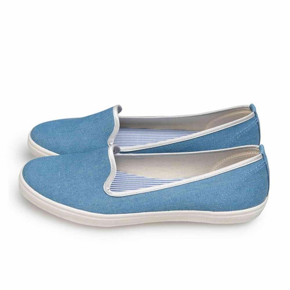 FUFA MIT 純色平底舒適懶人鞋 (H70) 藍