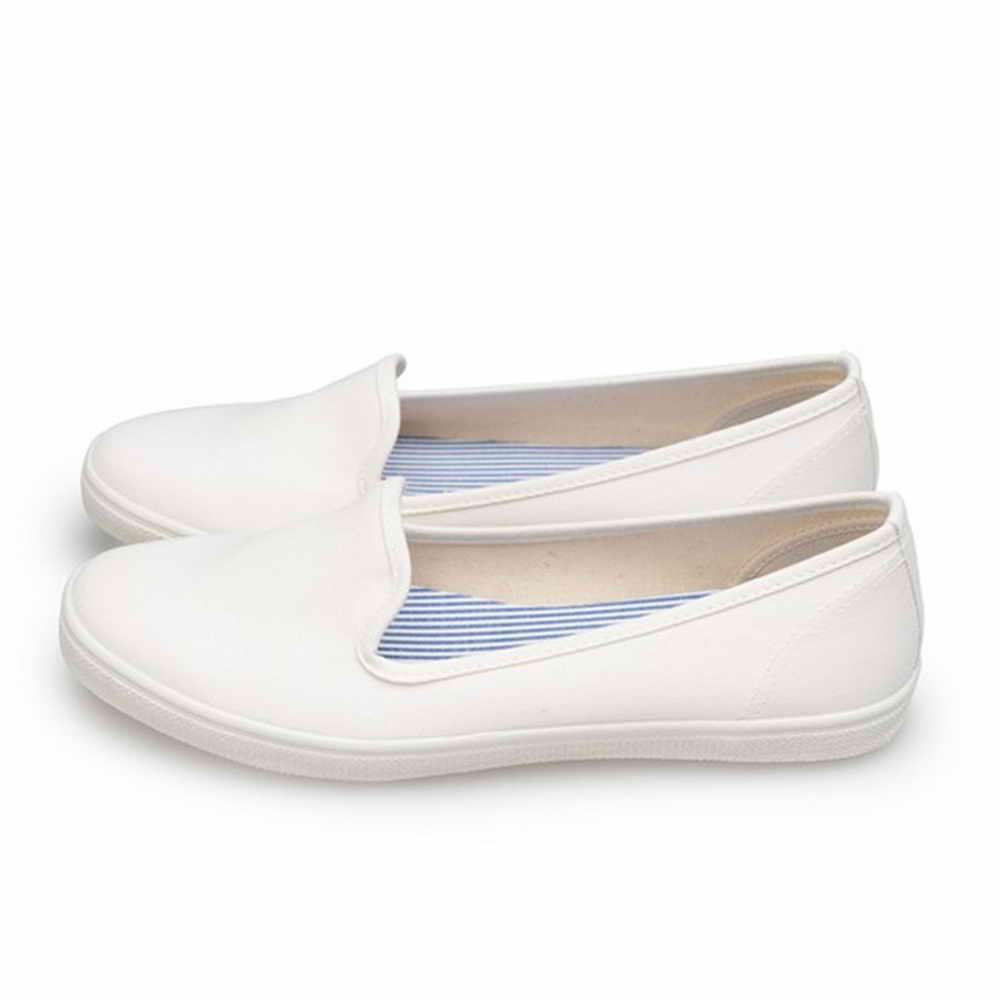 FUFA MIT 純色平底舒適懶人鞋 (H70) 白