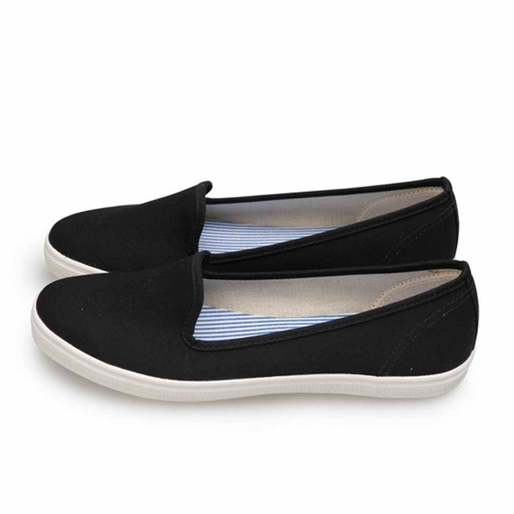 FUFA MIT 純色平底舒適懶人鞋 (H70) 黑