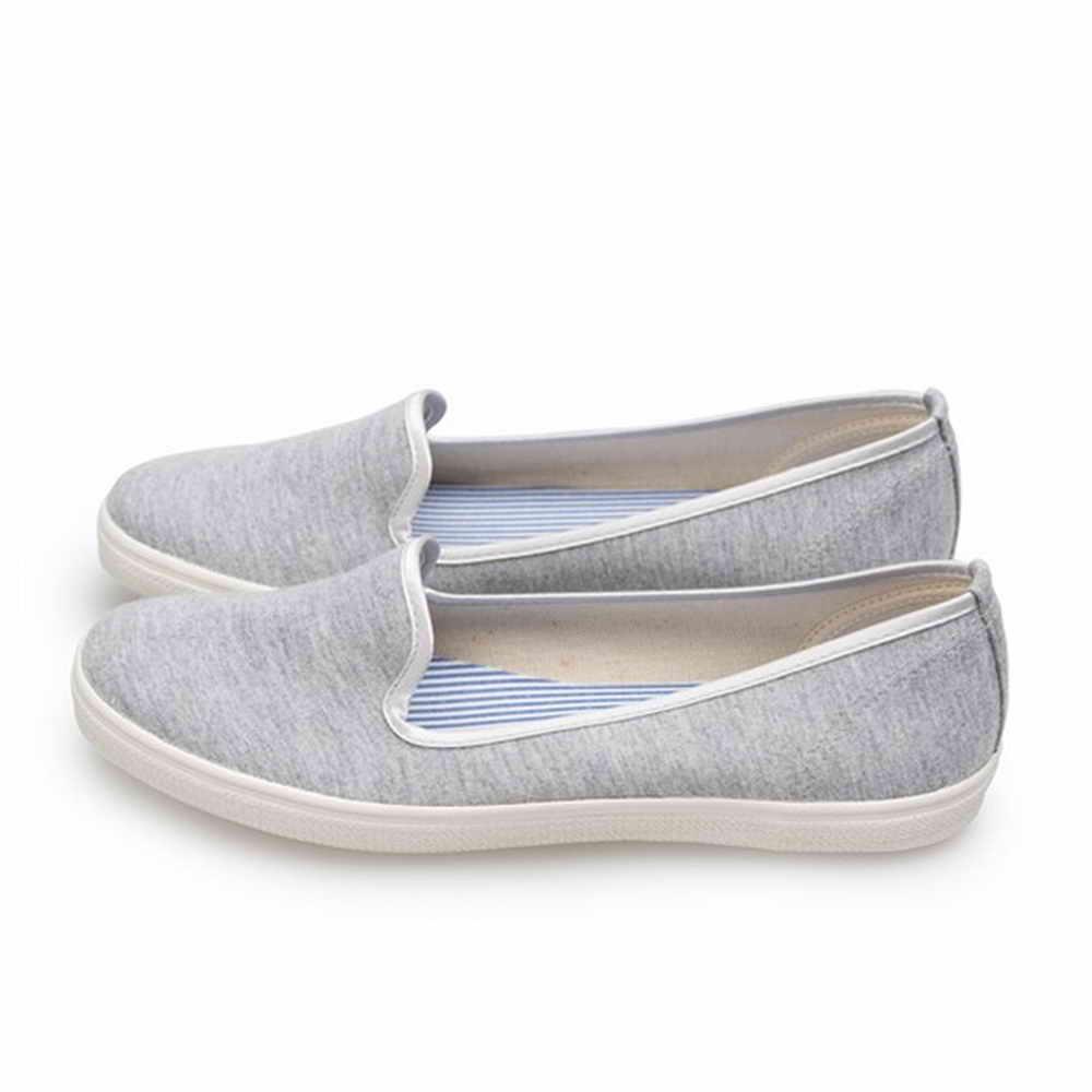 FUFA MIT 純色平底舒適懶人鞋 (H70) 灰