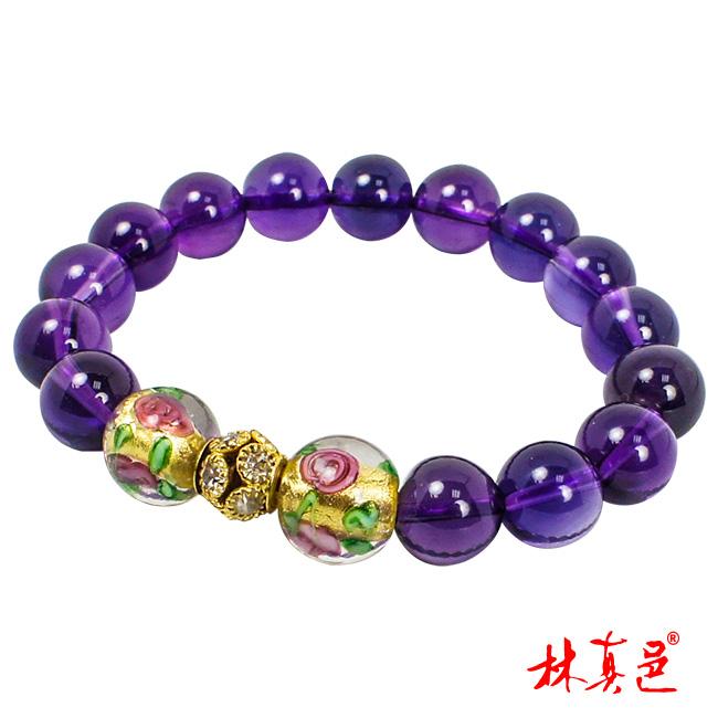 【林真邑】招貴人財大旺名利星光紫水晶手鍊
