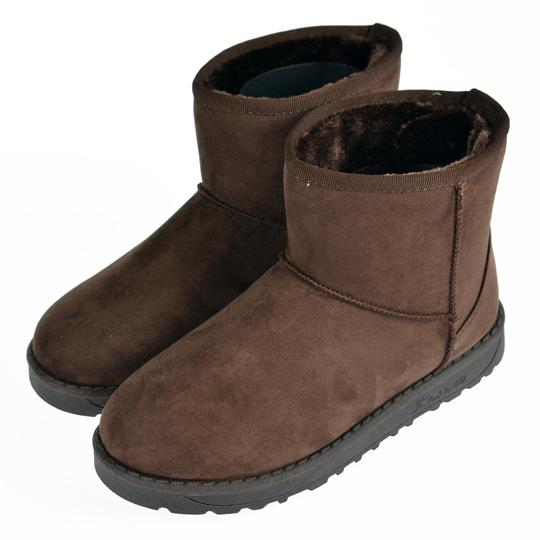 【TOMO】雪靴‧素色內增高短筒雪靴‧棕色【K165A3049】