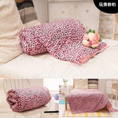 夢之語寢具 100%精梳棉 5x6尺涼被 玩美粉豹