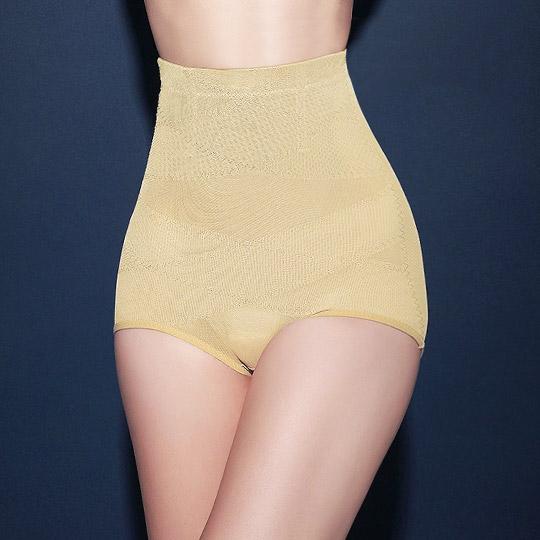 '精雕細塑'420丹二排交叉三段加壓收腹美型提臀褲-膚