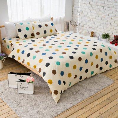 【夢之語寢具】MIT台灣製-輕甜馬卡龍♥蜜桃絲床包三件套組-米娜印象