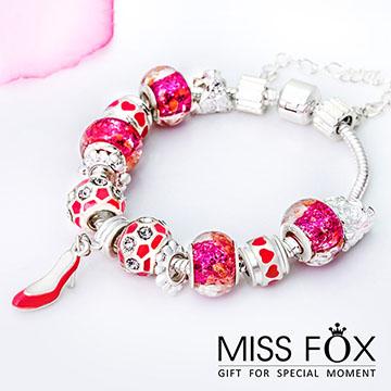 浪漫舞鞋 芭比粉手鍊☆Hello!Miss Fox☆【JJ0790】