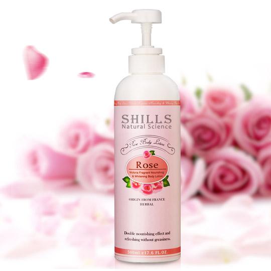 SHILLS 維多利亞香氛極潤美白身體乳-玫瑰 500ml