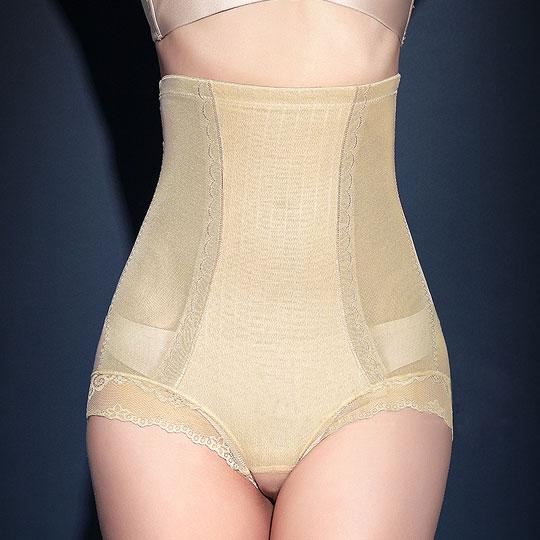 '精雕細塑'420丹歐法蕾絲高腰兩段強壓收腹提臀褲-膚