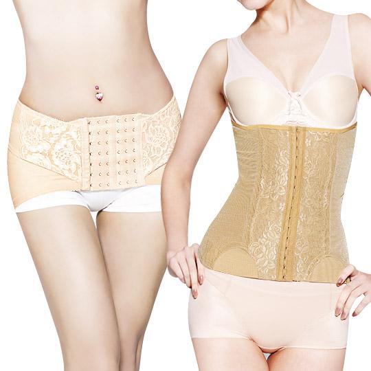 <最強纖腰提臀>三段機能束腰夾(加長版)+輕薄提臀帶(膚)