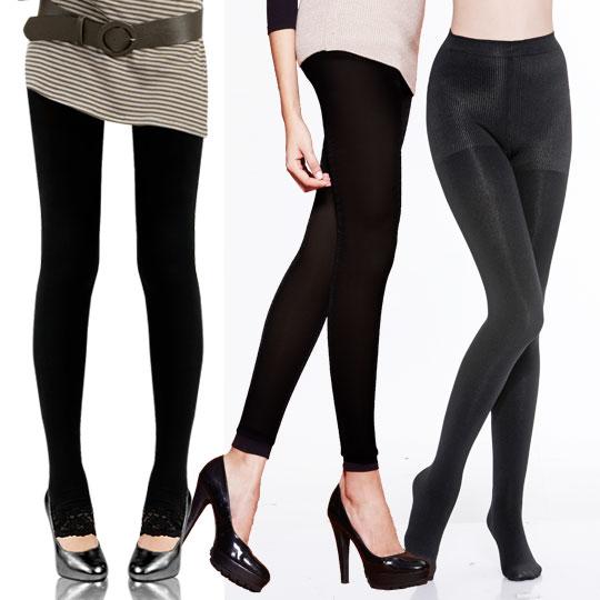 <第3件$1>200丹刷毛纖腿襪+韓版名媛蕾絲踩腳褲+顯瘦刷毛褲-9分